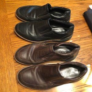 ECCO Men's Slip On Shoes Size 9 (43) 2 PAIR